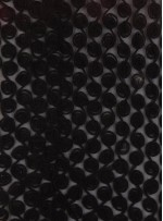 Gül Desenli Üç Boyutlu Siyah Abiyelik Lase Kumaş - K9560
