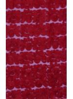 Tül Üzeri Çiçek Desenli Lase Kırmızı Kumaş - K9562