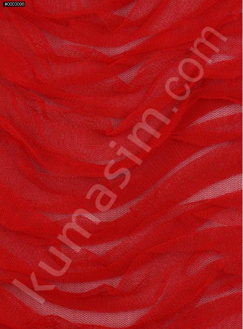 Yay Desenli 3 Boyutlu Lazer Kesim Kırmızı Kumaş - K9563