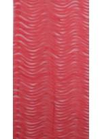 Yay Desenli 3 Boyutlu Lazer Kesim Mercan Kırmızı Kumaş - K9563