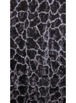 Duvar Desenli Küçük ve Büyük Payetli c1 Mat Siyah Gümüş Kumaş - K9575