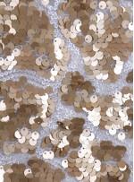 Duvar Desenli Küçük ve Büyük Payetli c5 Gold Kemik Kumaş - K9575