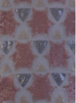 Yıldız Desenli Pudra Gri Payetli Kumaş - K9576