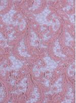 Çiçek Desenli Kalın Kordoneli Güpür Pudra Kumaş - K9580