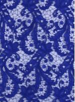 Çiçek Desenli Kalın Kordoneli Güpür Saks Kumaş - K9580