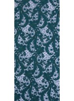 Çiçek Desenli Kalın Kordoneli Güpür Yeşil Kumaş - K9580
