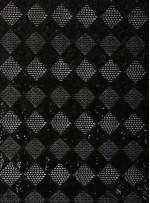 Baklava Desenli Siyah Payetli Abiyelik Kumaş - 1 - K9588