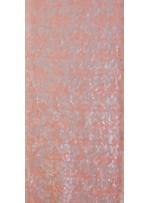 7 mm Pudra Payet ve 3 mm Koyu Turuncu Payet İşleme Kumaş - K9595