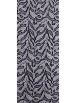 Dalga Desenli Siyah Beyaz Payetli Kumaş - K9601