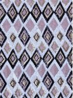 Baklava Desenli Abiyelik Payetli Kumaş - K9602