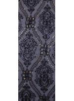 Etnik Desenli Gold Payetli Abiyelik Kumaş - K9603