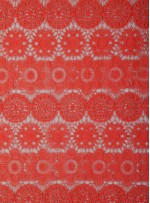 Daire ve Etnik Desenli Abiyelik Mercan Güpür - K9608