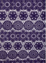 Daire ve Etnik Desenli Abiyelik Mor Güpür - K9608