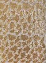 Kaya Desenli Gold Payetli Abiyelik Kumaş - K9612