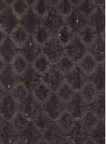 Baklava Desenli Simli Siyah Payetli Kumaş - K9613