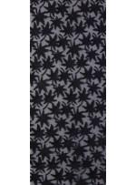 Yıldız Desenli Üç Boyutlu Siyah Güpür Kumaş - K9615
