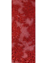 Kalın Kordoneli ve Karışık Desenli Kırmızı Payetli Kumaş - K9616