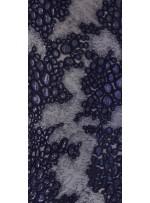 Kalın Kordoneli ve Karışık Desenli Lacivert Payetli Kumaş - K9616