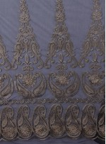 Eteği Sulu Osmanlı Desenli Nakışlı Gold Kumaş - K9622