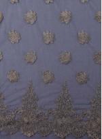 Siyah Tül Üzeri İşlemeli 3 Boyutlu Gold Simli Bindallı Kumaş - K9626