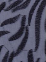 Tül Üzeri 3 MM Mat Siyah Payet İşlemeli Kumaş - K9630