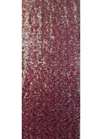 Yoğun Bakır Hologram Payetli Abiyelik Kumaş - K9640