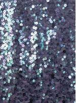 Yoğun Gümüş Hologram Payetli Abiyelik Kumaş - K9640