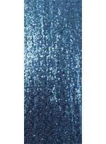Yoğun Turkuaz Hologram Payetli Abiyelik Kumaş - K9640