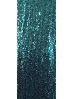 Yoğun Zümrüt Hologram Payetli Abiyelik Kumaş - K9640