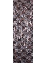 Dantel Üzeri Payetli Siyah Bakır Abiyelik Kumaş - K9641