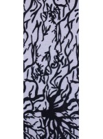 Ağaç Dalı ve Damar Desenli Nakışlı Camel - Siyah Kumaş  - K9653