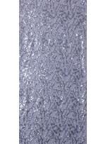 File Üzeri Gümüş Payetli Abiye Elbiselik Kumaş - K9665