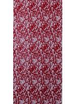 File Üzeri Kırmızı Payetli Abiye Elbiselik Kumaş - K9665