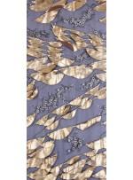 Deri Laseli Gold Payetli Abiyelik Kumaş - K9678