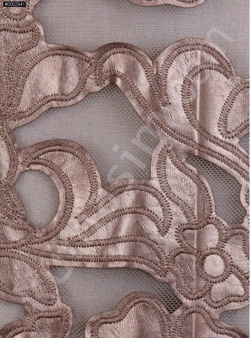 Çiçek Desenli Vizon Deri Kumaş - K9679