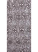 Ağ ve Çiçek Desenli Haki Abiyelik Güpür Kumaş - K9682