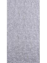 File Üzeri Simli Kordone İşlemeli Kemik Kumaş - K9684