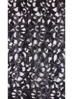 Yakma Tül Üzeri Siyah Payetli Kumaş - K9687