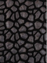 Siyah Kadife Üzeri Siyah Deri Kumaş - K9690