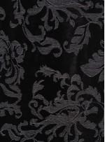 Kadife Üzeri Beyaz İşlemeli  Abiyelik Kumaş - K9696
