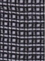 Kare Desenli Deri Payetli Siyah Payetli Kumaş - K9699