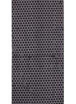File Üstü Kordoneli Daire Desenli Siyah Kumaş - K9700