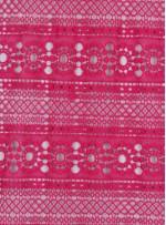 Etnik Desenli Fuşya Abiyelik Güpür - K9701