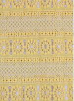 Etnik Desenli Sarı Abiyelik Güpür - K9701