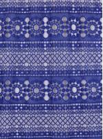Etnik Desenli Sax Lacivert Abiyelik Güpür - K9701
