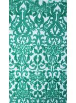 Etnik Desenli Nakışlı Yeşil Elbiselik Payetli Kumaş - K9722
