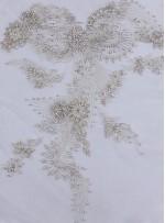 Swarovski Taşlı ve Boncuklu Çiçek Desenli Kupon Büstiyer - A9740