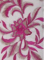 Fuşya 3 Boyutlu Elbiselik Abiyelik Kumaş - K9813