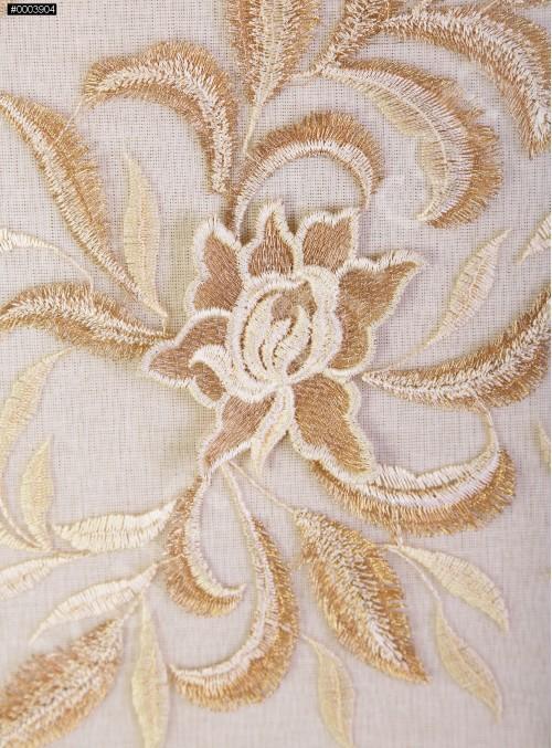 Kemik 3 Boyutlu Elbiselik Abiyelik Kumaş - K9813