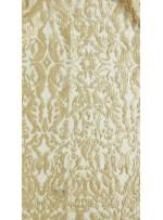 Etnik Desenli Nakışlı Gold Elbiselik Kumaş - K9854